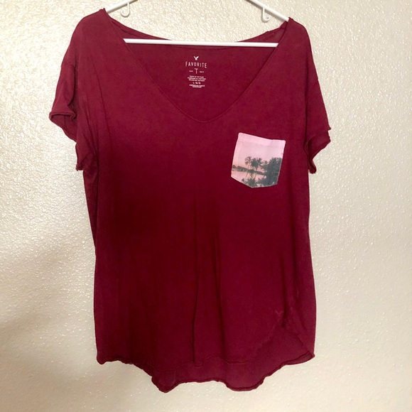 f4ebe530 American Eagle Outfitters Tops | Aeo Favorite T Pocket Tee | Poshmark